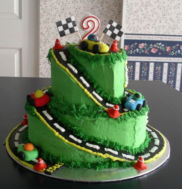 first birthday cakes boy with cars | Race Car Birthday Cake — Children's Birthday Cakes