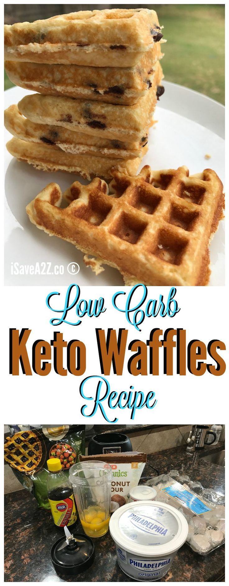Low Carb Keto Fluffy waffles recipe - fluffy keto waffles!!!  BEST EVER!