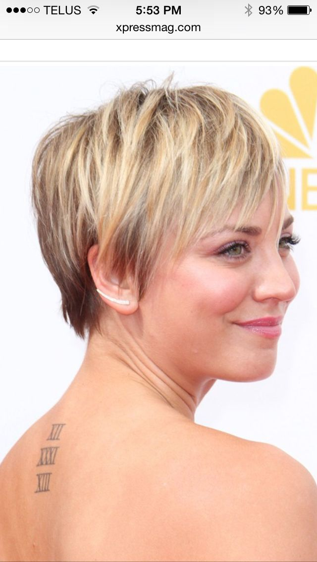Katey Cuoco short haircut.