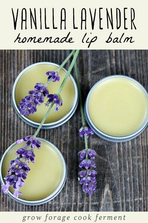 Machen Sie Ihren eigenen Vanille Lavendel Lippenbalsam. Es ist ein einfaches DIY Kräuterprojekt …   – Beauty Bar