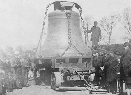 The first Big Ben bell was  caste and brought down from Stockton On Tees to London. It weighed 16 tons and was mounted on a trolley pulled by 16 horses. Sadly this original bell cracked during testing and was replaced by another weighing 13 tons cast in Whitechapel, London.