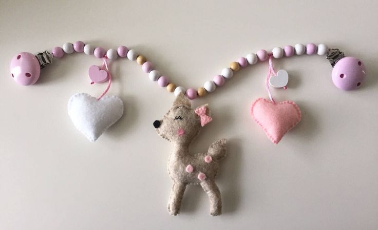 Stroller Chain toy car seat girl deer  heart pink Pram Chain baby girl toy wagenkette by Babyshop247 on Etsy https://www.etsy.com/ca/listing/507529170/stroller-chain-toy-car-seat-girl-deer