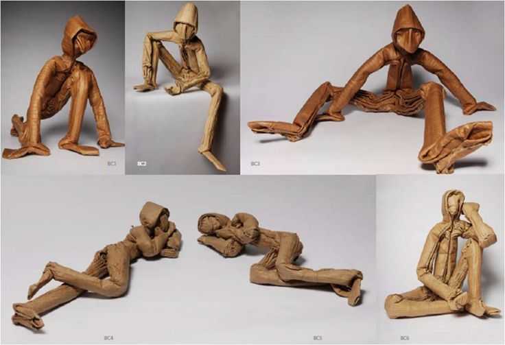 """""""Bonhomme Canelle"""" collection sculpted with cardboard by Junior Fitz Jacquet"""
