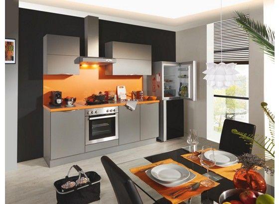 Fabulous K chenblock in Orange und Grau u der Trend f r Ihre K che