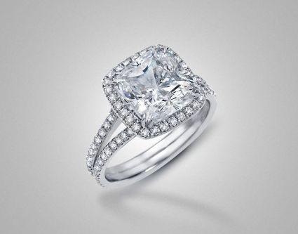 Cushion Cut Diamond Cartier Rings Photos