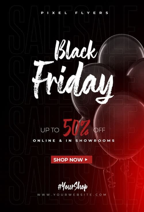 Black Friday Discount Free Flyer Template In 2020 Free Psd Flyer Free Psd Flyer Templates Free Flyer Templates