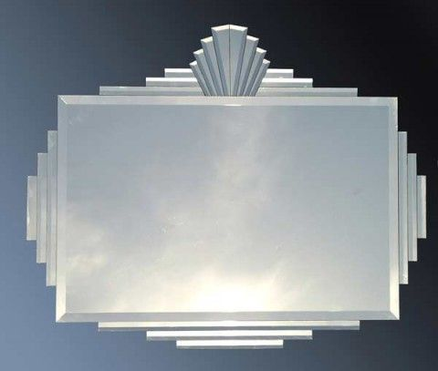 THE SUNRISE IS A BEAUTIFUL ART DECO STYLE MIRROR. IT IS ADORNED WITH A CROWN ON TOP IN THE FASHION OF THE PREWAR ERA. It truly represents that Art Deco style so popular at the time. It was recently featured in The Age newspaper home section.