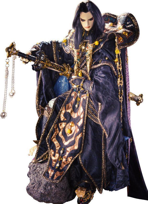 Thunderbolt Fantasy: Tomokazu Seki as the voice of Miè Tiān Hái / Sēn Luó Kū Gǔ (Betsu Ten Gai / Shinra Kokotsu), character designed by Satoru Minamoto. #puppetry