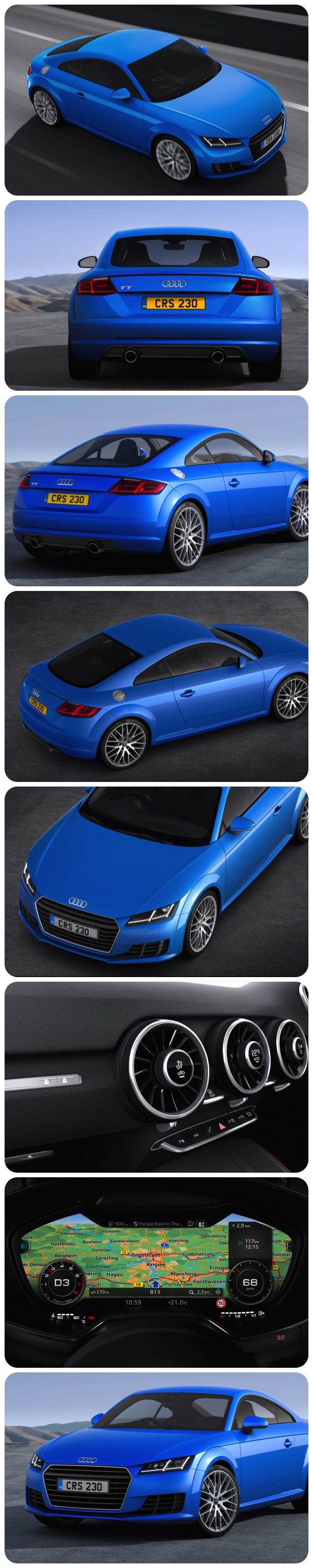 Trailblazing All-New Audi TT  - The exciting All-New Audi TT Coupé with a unique revolutionary all-digital virtual cockpit. Some of the highlight features of the All-New Audi TT Sport and S line models include  the fantastic fully digital Audi virtual cockpit, MMI touch, xenon or LED headlights, Audi Music Interface, Audi drive select, Alcantara/leather sports seats, keyless go.  The new models are now available to order priced from £29,770 – £35,335 OTR. #audi #tt #newcars #coupe #cool