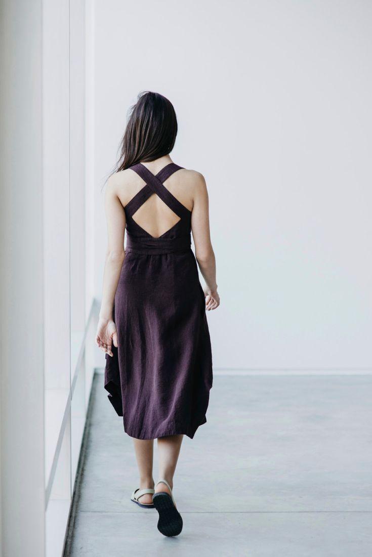 Linen Dress Motumo 15S12 by MotumoLinen on Etsy