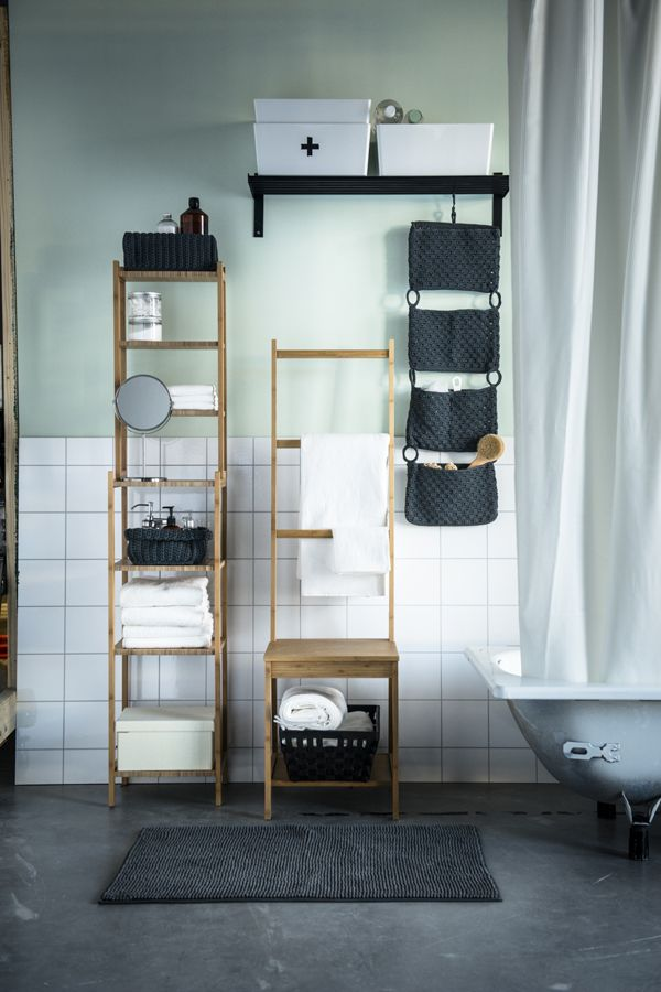 Hj Lmaren Wall Shelf Black Brown Bathroom Chairbathroom Towel Railsikea Bathroombathroom Ideasstorage