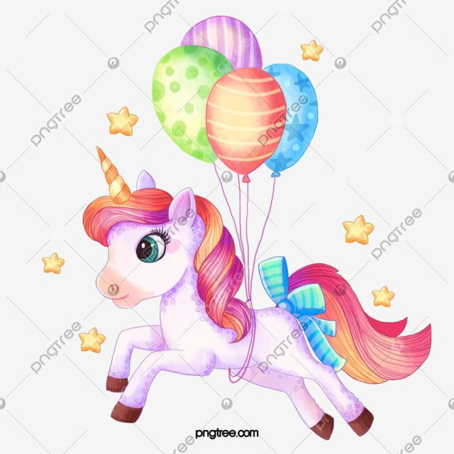 풍선 가지고 노는 귀여운 유니콘 유니콘 클립 아트 손으로 그린 아름다운무료 다운로드를위한 Png 및 Psd 파일 Cute Unicorn Cute Unicorn