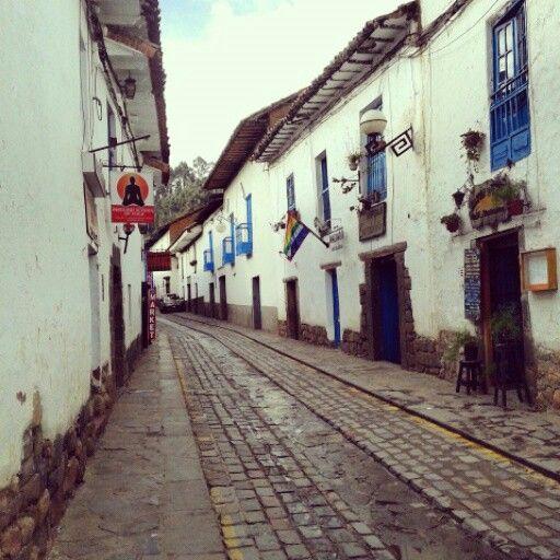 Cuzco street, it 'S líke Europa.  Love it.