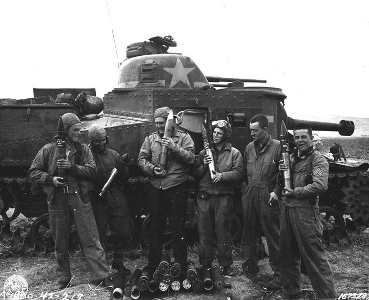 M3 medium tank number 309490 of D Company 2nd Battalion 13th Armored Regiment US 1st Division at Souk el Arba Tunisia 23 November 1942.