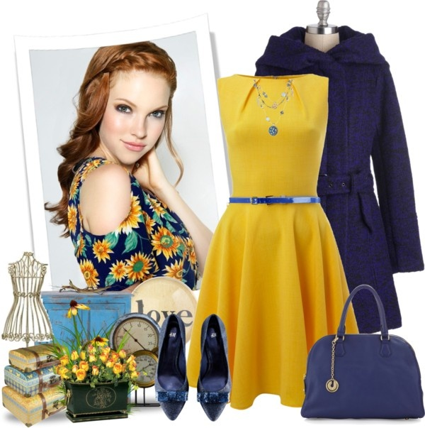 """Blue and Yellow!"" by justjules2332 ❤ liked on Polyvore"