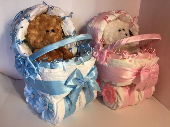 Baby Boy Diaper Carriage Unique Diaper Cake Baby Boy Baby