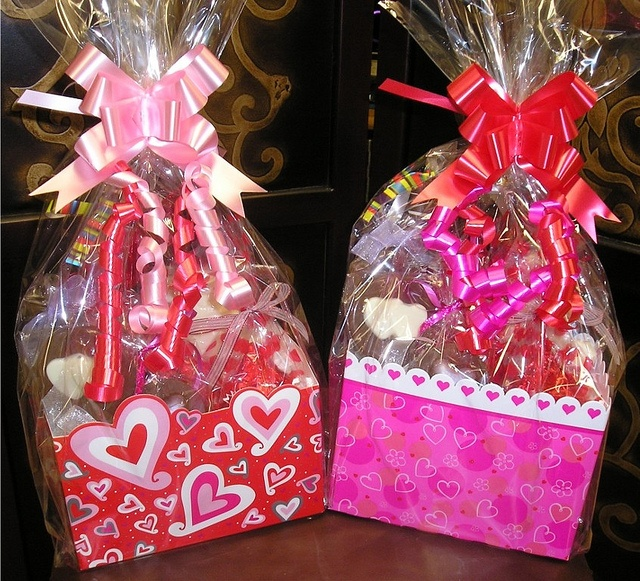 once upon a chocolate makes adorable valentine gift baskets using our basket boxes http