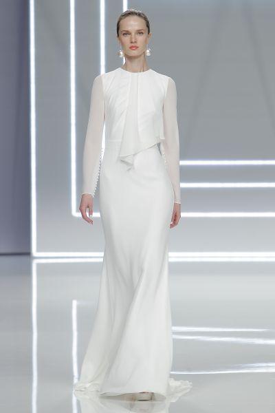 Vestidos de noiva minimalistas 2017: simplicidade é o segredo da elegância! Image: 34