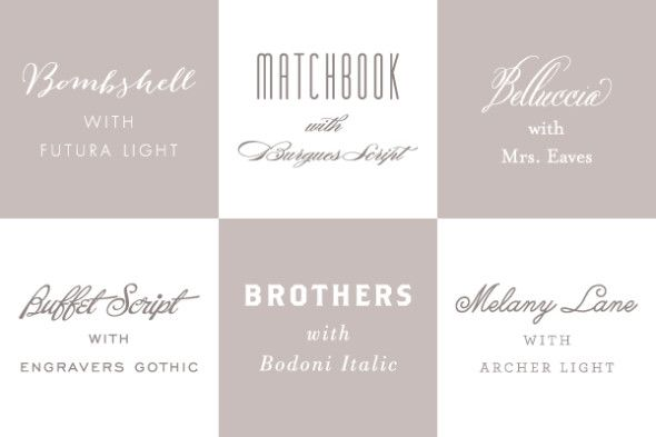 Fonts 101: Our Favorite Font Combinations
