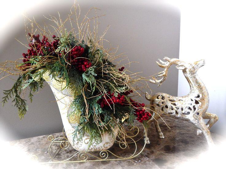 Christmas Sleigh and Reindeer