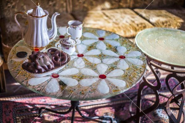 tea_on_mosaic_table