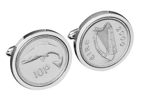 Ireland 1995 - Irish Salmon 10p Cufflinks worldcoincufflinks,http://www.amazon.com/dp/B00BAZOES8/ref=cm_sw_r_pi_dp_N8Jttb13FW6WQYW0