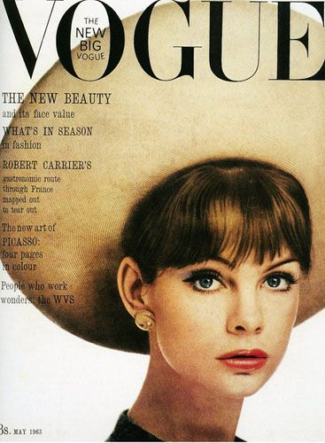 Джин Шримптон на обложке Vogue, 1963 год