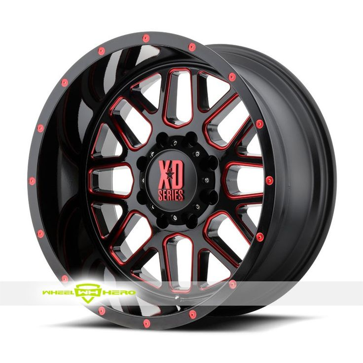 XD Series XD820 Grenade Black Milled Red Wheels For Sale & XD Series XD820 Grenade Rims And Tires
