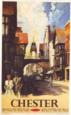 Vintage Railway Chester A3 Poster Print