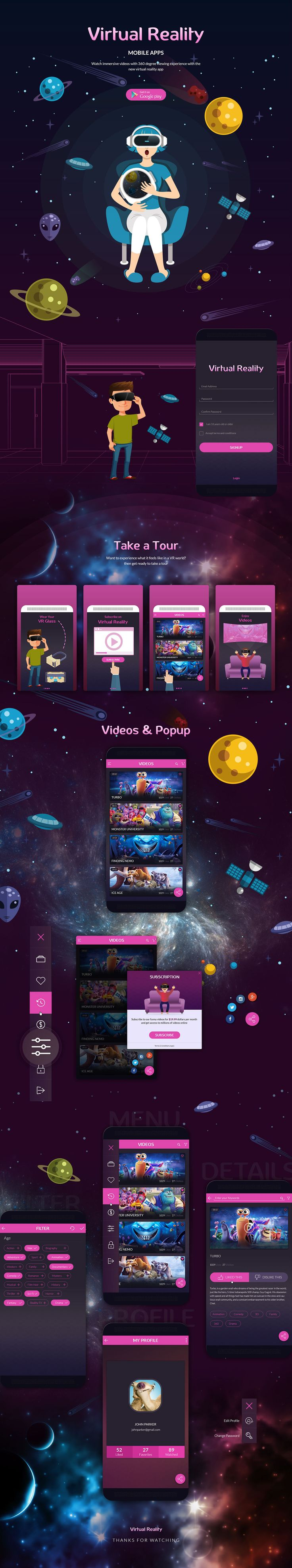 Virtual Reality App on Behance