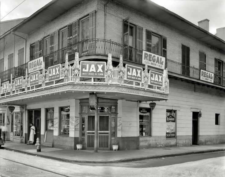 "New Orleans, Louisiana, circa 1937. ""Tortorich Restaurant, Royal Street."" Shorpy Historical Photo Archive :: Best Beer in Town: 1937"