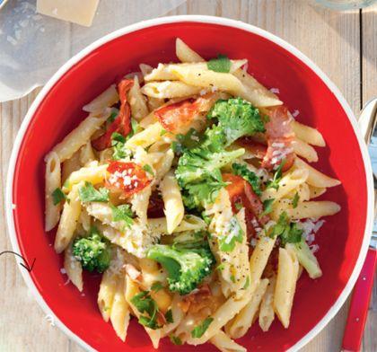 Recept voor pasta carbonara met rauwe ham