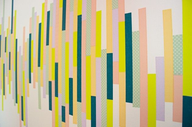 WASHI TAPE WALL TUTORIAL http://thesymmetric.com/