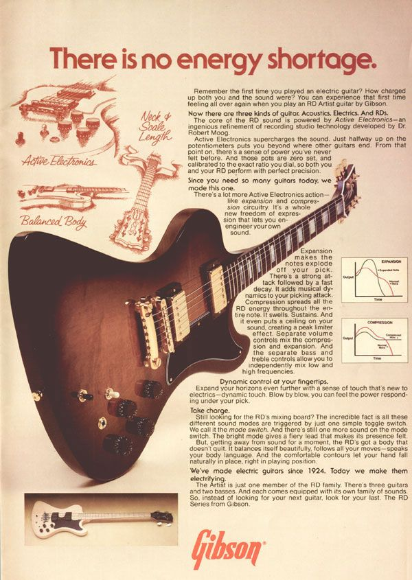 GuitArcheology: Vintage Gibson Print Ads.             1979