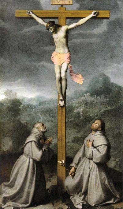 Giovan Battista Moroni - Crocifisso tra i Santi Bernardino e Antonio da Padova - 1573-1575 - Albino - Chiesa di San Giuliano