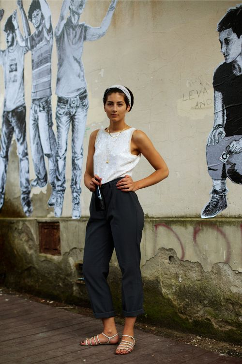 On the Street….Matte Sequined Top for Day, Florence « The Sartorialist