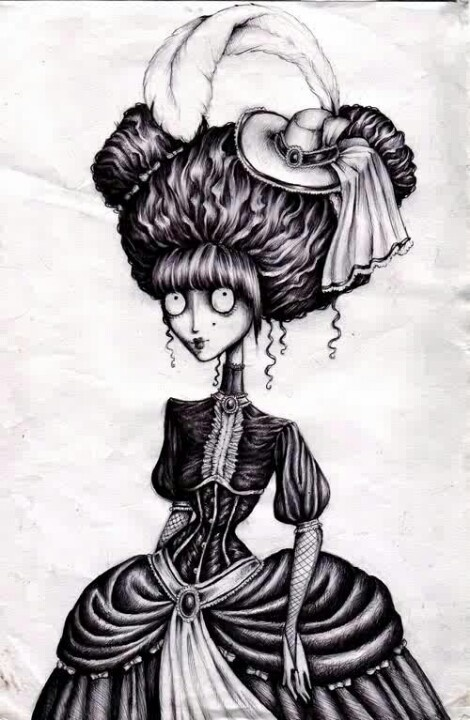 Again my obsession with tim burton style drawings... though I am not sure if it is original or not