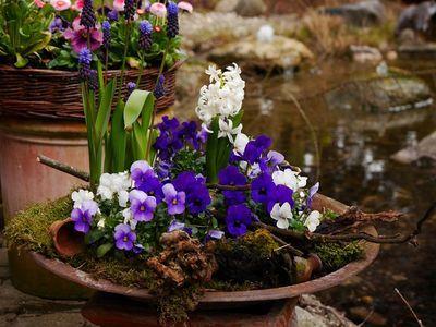 Perfect Eleganz in wei blau Wohnen und Garten Foto