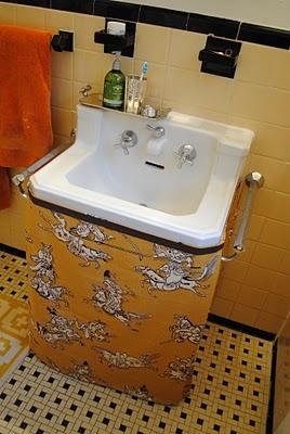 Sink Skirt I Have The Same Sink And Floor Tile