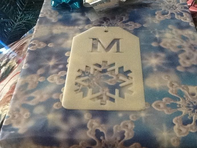 Snowflake Gift Tag : Negative Cut by mortinus - Thingiverse