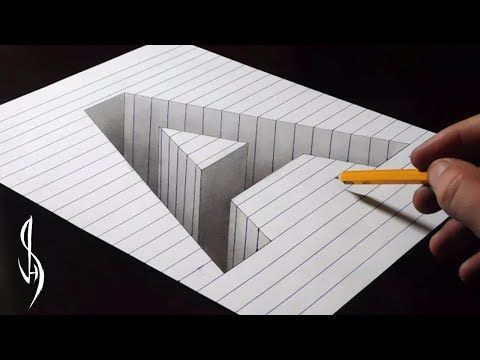 Very Easy - Drawing 3D Letter T - Trick Art with Graphite Pencils and Marker  - VamosART - YouTube