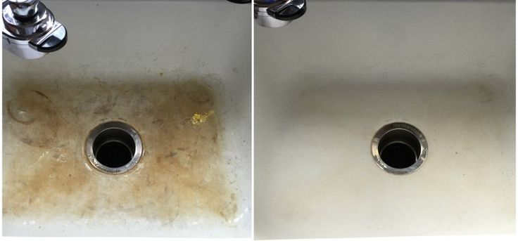 sink_collage | Secret to Making Your Porcelain Sinks Shine Again