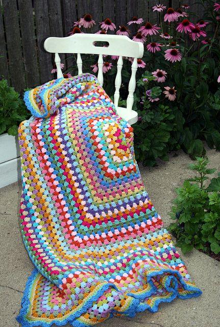 giant granny square blanket