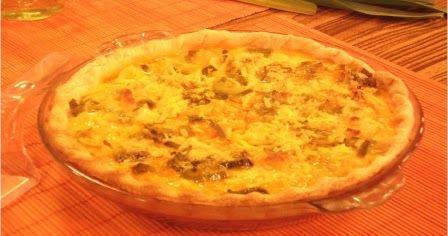 Receta de Tarta de calabaza facil de hacer. Tarta de calabaza con un relleno diferente y sabroso, con queso y puerros. Como hacer la Tarta de calabaza facil y rapida