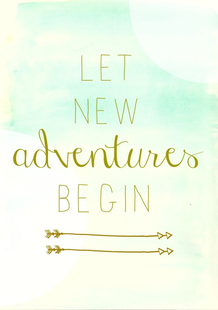 Free Watercolor Let New Adventures Begin Printable from City Farmhouse: