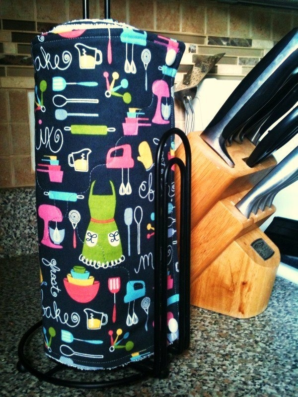 ADORABLE Baker Reusable Paper Towels. Snaps. READY to SHIP. $50.00, via Etsy.