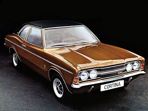 Ford Cortina - happy memories: my first car - I bought it from my dad - a 2000 GT engine:-)