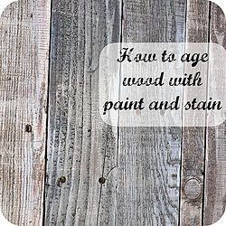 Details on how I aged pallet wood using paint and stain to achieve that reclaimed wood look. I used all products I already had on hand so this project was free.�