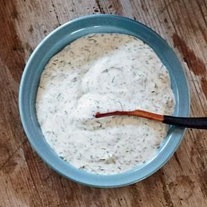 Dill Sauce | MyRecipes.com This creamy, mayonnaise-based dill sauce is delicious with anything from fish cakes to steamed vegetables.
