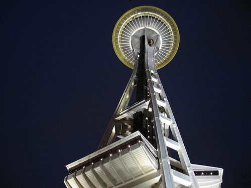 Seattle Sightseeing - Space Needle at Night